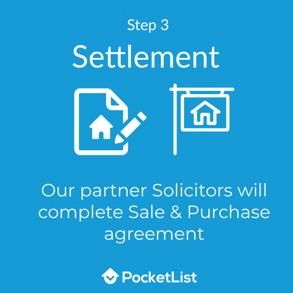 PocketList Step 3: Settlement